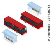 a bus stop is a designated... | Shutterstock .eps vector #394438765