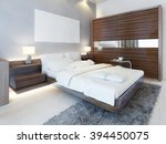 contemporary bedroom in white... | Shutterstock . vector #394450075