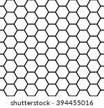 Abstract geometric black and white hipster fashion hexagon pattern | Shutterstock vector #394455016