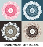 mandala flower leaves decorative | Shutterstock .eps vector #394458526