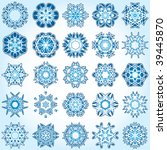 set of 25 a six rays crystal...   Shutterstock .eps vector #39445870