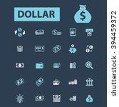 dollar icons  | Shutterstock .eps vector #394459372