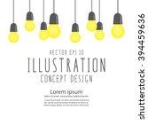 illustration vector many bulbs... | Shutterstock .eps vector #394459636