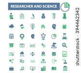 researcher and science icons  | Shutterstock .eps vector #394462342