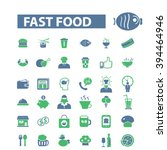 fast food icons  | Shutterstock .eps vector #394464946