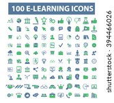learning icons  | Shutterstock .eps vector #394466026