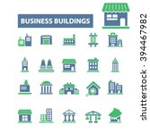 business buildings icons    Shutterstock .eps vector #394467982