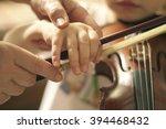 violin lesson. | Shutterstock . vector #394468432