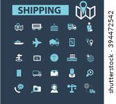 shipping icons  | Shutterstock .eps vector #394472542