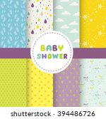 cute baby background. colorful... | Shutterstock .eps vector #394486726