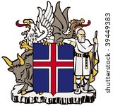 coat of arms of iceland | Shutterstock .eps vector #39449383