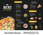vector restaurant cafe menu... | Shutterstock .eps vector #394502272