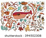 colored set of elements on the... | Shutterstock .eps vector #394502308