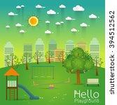 kids playground  playground... | Shutterstock .eps vector #394512562