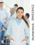 portrait of doctor in front of...   Shutterstock . vector #394515412