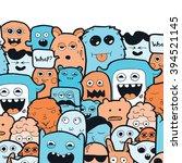 doodle art monsters 1 | Shutterstock .eps vector #394521145