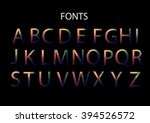 vector alphabet set fun... | Shutterstock .eps vector #394526572