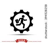 man in gear icon | Shutterstock .eps vector #394528258