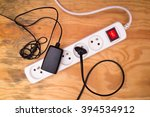 flat lay   extension cord and...   Shutterstock . vector #394534912