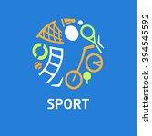 logo for children's sports... | Shutterstock . vector #394545592