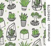 hand drawn seamless pattern... | Shutterstock .eps vector #394545778