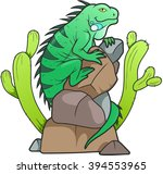 iguana  | Shutterstock .eps vector #394553965