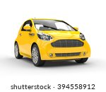 Small Yellow Compact Car  ...