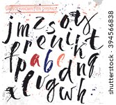 alphabet lowercase letters....   Shutterstock .eps vector #394566838