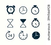 time and clock icons. vector... | Shutterstock .eps vector #394566928