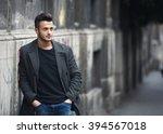 portrait of young handsome... | Shutterstock . vector #394567018