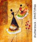 oil painting   spanish dance   Shutterstock . vector #394573966