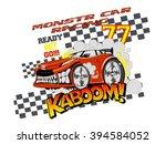 monster car racing. vector car... | Shutterstock .eps vector #394584052