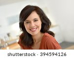 portrait of smiling 40 year old ... | Shutterstock . vector #394594126