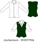 vector illustration of blouse... | Shutterstock .eps vector #394597906