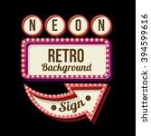3d vintage street sign. retro... | Shutterstock . vector #394599616
