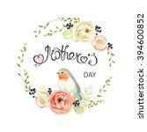 happy mothers day lettering ... | Shutterstock .eps vector #394600852