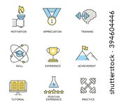 vector set of icons related to... | Shutterstock .eps vector #394604446
