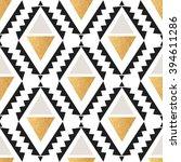seamless boho geometrical... | Shutterstock .eps vector #394611286