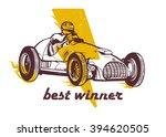 vector vintage sport racing car | Shutterstock .eps vector #394620505