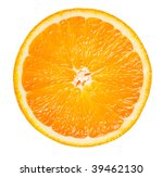 slice of orange isolated on... | Shutterstock . vector #39462130
