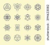 line geometric design symbols... | Shutterstock .eps vector #394623082