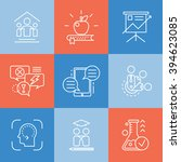 vector set icons related to... | Shutterstock .eps vector #394623085