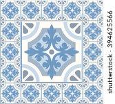 floor tiles   seamless vintage... | Shutterstock .eps vector #394625566