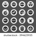 emotions and glances  simply... | Shutterstock .eps vector #394625935