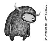 horned beast | Shutterstock . vector #394635622