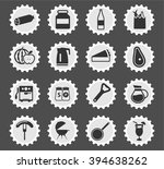 food and kitchen simple icons... | Shutterstock .eps vector #394638262