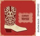 Cowboy American Shoe.vector...