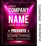 poster template with shining... | Shutterstock .eps vector #394650472