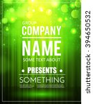 poster template with shining... | Shutterstock .eps vector #394650532