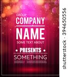 poster template with shining... | Shutterstock .eps vector #394650556